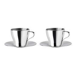 Henrik Preutz - KALASET Espresso cup and saucer - Espresso cup and saucer, stainless steel