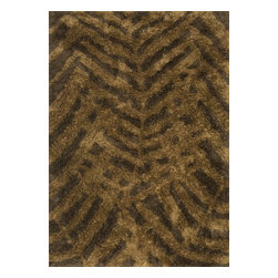 Loloi Rugs - Loloi Rugs Garden Shag Brown-Bronze Indoor / Outdoor Rug X-6967ZBRB30-NGNDRG - Large leafy branches are overlaid upon each other on this Loloi Rugs indoor / outdoor rug, with a muted fall color palette that is sure to please. From the Garden Collection, the shades of bronze and brown, with polyester construction, that gives it a look and feel that will withstand a variety of uses.
