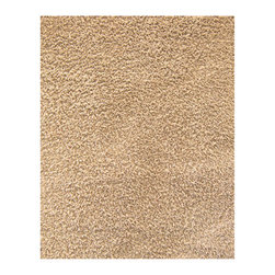 Anji Silky Shag Beige 4'x6' - Take a few steps on our luxurious bamboo rug, and your feet will sing with joy. Not only are the fibers of this 80% bamboo - 20% cotton rug softer and silkier than wool or synthetic fibers, they are also hypo-allergenic and resist shedding. In addition, only non-toxic Azo-free dyes are used to produce the brilliant colors. Our bamboo rugs are crafted from sustainably-harvested bamboo that grows on a mountain range that is not inhabited by the Giant Panda bear. In addition, the Giant Panda does not eat the species of bamboo used to craft these beautiful rugs, so you can rest assured that these rugs are not only earth-friendly, but also panda-friendly. Rug pad recommended. Available colors: Ivory, Beige, Crimson and Coffee Bean. Available sizes: 3'x5', 4'x6', 5'x8', 8'x10' and 9'x12'.
