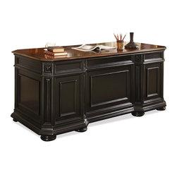 Riverside Furniture - Allegro Executive Desk - Six outside drawers.