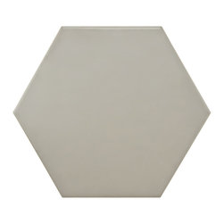 None - SomerTile Hextile Mate Grey Porcelain Floor and Wall Tile (Set of 14) - Somertile's Hexatile features a hexagonal shape that is perfect for historical renovations or modern installations. These tiles are suitable for medium-duty residential floors with normal footwear and small amounts of dirt.