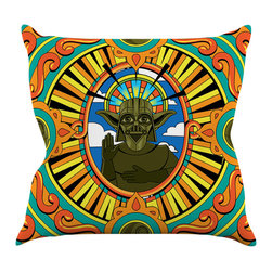 """Kess InHouse - Roberlan """"Darth Yoda"""" Star Wars Throw Pillow (16"""" x 16"""") - Rest among the art you love. Transform your hang out room into a hip gallery, that's also comfortable. With this pillow you can create an environment that reflects your unique style. It's amazing what a throw pillow can do to complete a room. (Kess InHouse is not responsible for pillow fighting that may occur as the result of creative stimulation)."""