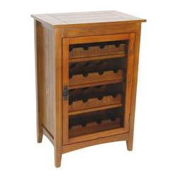 Wayborn - Wayborn Hugo Wine Cabinet in Oak - Wayborn - Wine Racks - 9047 -