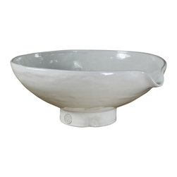 Montes Doggett - Handmade Serving Bowl with Spout - This bowl would look all sorts of minimalist-rustic pretty holding a stack of clementines in the kitchen, but the spout ensures it's no one-trick pony. Use it for mixing and pouring, then when work is done, keep it out on view.