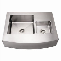"Whitehaus - Whitehaus Whncmdap3629 36"" Double Kitchen sink - Zero radius corners"