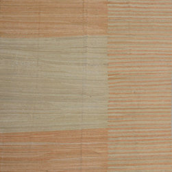 "ALRUG - Handmade Beige Oriental Kilim  6' 9"" x 10' (ft) - This Afghan Kilim design rug is hand-knotted with Wool on Wool."