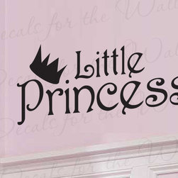 Decals for the Wall - Wall Decal Sticker Quote Vinyl Lettering Little Princess Baby Girl's Room K72 - This decal says ''Little Princess''