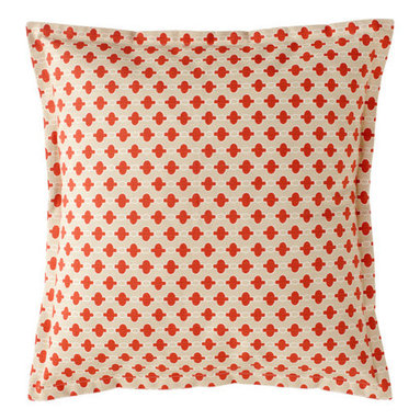 Whitewater Khaki and Coral Pillow -