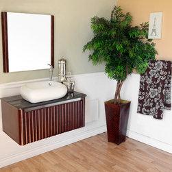 Bellaterrra - Bellaterra 804347 32.5 In Single Sink Vanity-Wood-Walnut - 32.5x19.25x20.5 in. - Bellaterra 804347 32.5 In Single Sink Vanity-Wood-Walnut - 32.5x19.25x20.5 in.