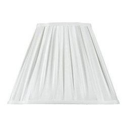 CAL Lighting - CAL Lighting 12.5 in. White Oval Stretched Fabric Shade SH-1120 - Shop for Lighting & Fans at The Home Depot. This durable fabric shade is a good addition to any decor. It features a oval shape with visible trim. Simple in design, it works well any many styles and finishes.
