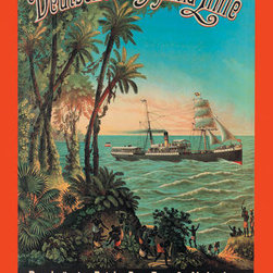 Buyenlarge - German-East Africa Post Office Steamer Connection 20x30 poster - Series: Ships - Cruise