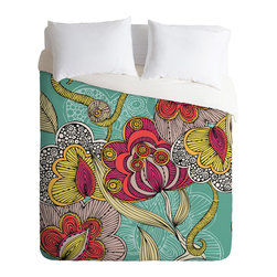 DENY Designs - Valentina Ramos Beatriz Duvet Cover - Turn your basic, boring down comforter into the super stylish focal point of your bedroom. Our Luxe Duvet is made from a heavy-weight luxurious woven polyester with a 50% cotton/50% polyester cream bottom. It also includes a hidden zipper with interior corner ties to secure your comforter. it's comfy, fade-resistant, and custom printed for each and every customer.