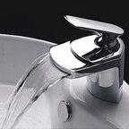 LightInTheBox Contemporary Waterfall Bathroom Sink Faucet (Chrome Finish) - Product Dimensions: 9.1 x 7.5 x 5.7 inches