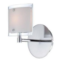Illumine - Illumine Designer Collection 1-Light 6.25 in. Chrome Wall Sconce with Frost Glas - Shop for Lighting & Fans at The Home Depot. This 1-light wall sconce, part of the Designer Collection, offers a trendy solution that is sure to satisfy all your-lighting needs. This wall sconce combines unique styling and excellent quality to create the perfect blend that will exceed your expectations. Combining a chrome finish with frost glass shade, this functional yet stylish fixture will add a renewing element in various decor settings.