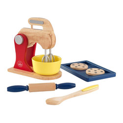 """KidKraft - Primary Baking Set, 8.50""""x5.50""""x3.25"""" by Kidkraft - Baking fresh cookies is always a great activity for parents to share with their children. Now, with our new Primary Baking Set, the young chefs in your life can do all the work themselves! These wooden 6 piece sets are so detailed that you�ll swear you smell the chocolate chips."""