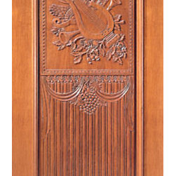 "Single Door, Hand Carved One Panel in Mahogany - SKU#    Carved-4_1Brand    AAWDoor Type    ExteriorManufacturer Collection    Carved & MansionDoor Model    Door Material    WoodWoodgrain    MahoganyVeneer    Price    1410Door Size Options    30"" x Height"" (2'-6"" x 6'-8"")  $032"" x Height"" (2'-8"" x 6'-8"")  $036"" x Height"" (3'-0"" x 6'-8"")  +$1042"" x Height"" (3'-6"" x 6'-8"")  +$16036"" x Height"" (3'-0"" x 7'-0"")  +$14030"" x Height"" (2'-6"" x 8'-0"")  +$39032"" x Height"" (2'-8"" x 8'-0"")  +$39036"" x Height"" (3'-0"" x 8'-0"")  +$41042"" x Height"" (3'-6"" x 8'-0"")  +$410Core Type    SolidDoor Style    Door Lite Style    Door Panel Style    1 Panel , Hand Carved Panel , Raised Moulding , Raised PanelHome Style Matching    Mediterranean , Victorian , Old World , Elizabethan , Pueblo , SuburbanDoor Construction    True Stile and RailPrehanging Options    Prehung , SlabPrehung Configuration    Single DoorDoor Thickness (Inches)    1.75Glass Thickness (Inches)    Glass Type    Glass Caming    Glass Features    Glass Style    Glass Texture    Glass Obscurity    Door Features    Door Approvals    Door Finishes    Door Accessories    Weight (lbs)    340Crating Size    25"" (w)x 108"" (l)x 52"" (h)Lead Time    Slab Doors: 7 daysPrehung:14 daysPrefinished, PreHung:21 daysWarranty    1 Year Limited Manufacturer WarrantyHere you can download warranty PDF document."