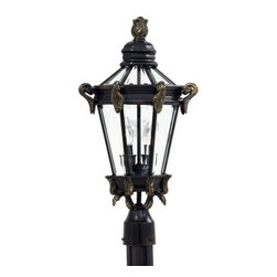 Minka-Lavery - Minka-Lavery Stratford Hall 2-Light Outdoor Post Mount - 8935-95 - This 2-Light Post Light has a Gold Finish and is part of the Stratford Hall Collection.