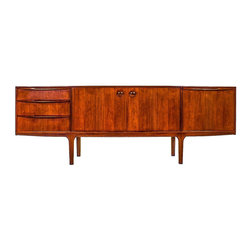 Mcintosh - Consigned Mid Century 7FT Rosewood Credenza by A.H Mcintosh of Scotland - Maker:    A.H Mcintosh