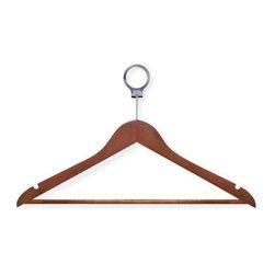 24-Pack Cherry Hotel Suit Hangers - Dimensions:  17.65 in l x .45 in w x 8.5 in h (44.8 cm l x 1.1 cm w x 21.6 cm h)