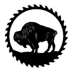 Buffalo Metal Sawblade Black - This listing is for one sawblade that looks like the picture.