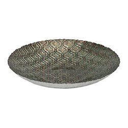 """IMAX - Marrakech Glass Charger - Inspired by rich Moroccan pattern and warm color, the Marrakech glass charger adds cultural influence to any room. Item Dimensions: (15.75""""h x 15.75""""w x 2.75"""")"""