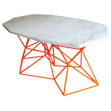 Futuristic Asymmetrical Marble Dining Table by Alberto Vieyra (One Off 1/1) ca.