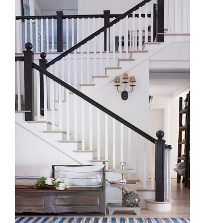 traditional  Stairs In White California  Beach House