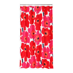 Unikko Red Shower Curtain -