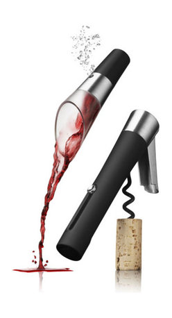 MENU - Wine Set with Waiter's Corkscrew/Decanting Pourer, Vignon - A bottle of wine can be a great gift, but bring one to a party and you'll likely not be the only guest with the same idea. Make your gift stand out by pairing a red or white with this helpful corkscrew and pourer set. It's practical and well designed, and will definitely help get the party started.