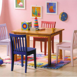None - Pack For Kids 5-piece Dining Set - Give your kids their own special place with this 5-piece set. This set includes a table and four chairs in just their size.