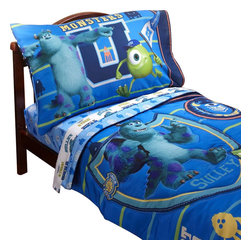 Crown Crafts Infant Products - Monsters University Toddler Bedding Set 4-Piece Comforter Sheets - Features: