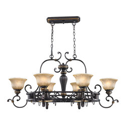 Golden Lighting - Golden Lighting 6029-PR62 EB 8-Light Pot Rack - Golden Lighting 6029-PR62 EB 8-Light Pot Rack