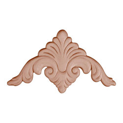 """3319 Wood Applique 3-3/4"""" x 3-3/4"""" - Decorative wood onlays and appliques, are decorative ornaments useful for bringing visual interest to flat areas. Embossed wood onlays and appliques are often used to decorate fireplace mantels, stove or range hoods and cabinetry headers."""