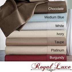 Royal Luxe - Royal Luxe Egyptian Cotton 600 Thread Count Sateen Sheet Set - Grace your bed with this sateen sheet set. This luxurious set features a soft 600-thread-count construction and a fully elasticized fitted sheet. Available in seven classic colors, this Egyptian cotton set is sure to complement your bedroom decor.
