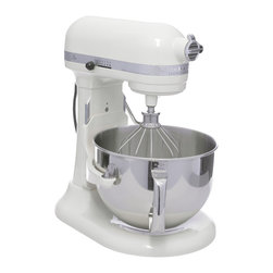 KitchenAid - KitchenAid Almond Cream RKP26M1XAC 6-quart Pro 600 Bowl-Lift Stand Mixer (Refurb - With 10 speed settings and traditional good looks,this KitchenAid stand mixer is a chef's best friend. This mixer features a 6-quart bowl and comes with a wire whip,a burnished flat beater,a spiral dough hook.