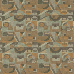 Gold Green and Grey Abstract Geometric Durable Upholstery Fabric By The Yard - P7135 is great for residential, commercial, automotive and hospitality applications. This contract grade fabric is Teflon coated for superior stain resistance, and is very easy to clean and maintain. This material is perfect for restaurants, offices, residential uses, and automotive upholstery.