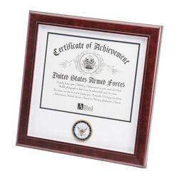US Navy Certificate Frame - 14-Inch by 14-Inch Military Certificate Frame