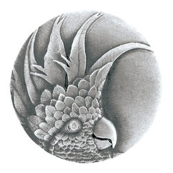 Tropical Collection by Notting Hill Decorative Hardware - Antique Pewter Cockatoo Knob Left Side