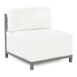 Howard Elliott - Howard Elliott Atlantis White Axis Chair Slipcover - Axis chair Atlantis white slipcover