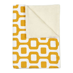 LaCozi - Contemporary Mustard Baby Blanket - They're just getting warmed up. Your babies are ready to go just about anywhere, because they're wrapped up in the coziest of blankets, that can travel from the car to the playroom to the stroller with style.