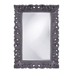 Home Decorators Collection - Barcelona Wall Mirror - Enjoy the beauty of the Barcelona Wall Mirror. This rectangular, traditional mirror features an ornate open scrollwork frame that is finished in a glossy lacquer.Crafted of resin and beveled mirrored glass. Available in a variety of colors.