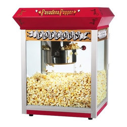 """Great Northern Popcorn - Bar Style 8 Ounce Antique Popcorn Machine - Features: -Popcorn machine.-Switches include: spot light warmer, stirrer and pot heater.-Warming deck.-All metal gearbox.-Reject kernel tray.-Tempered glass.-Old maid drawer.-Eight ounce kettle.-Red finish.-Product Type: Theater style machine.-Color: Red.-Distressed: No.-Powder Coated Finish: No.-Gloss Finish: No.-Material: Metal -Material Details: Steel..-Non-Stick Surface: No.-Run Time: 3-5 Minutes.-Warmer Light: Yes.-Tempered Glass: Yes.-Wheels: No.-Wattage: 860 W.-Voltage: 110 V.-Kettle Included: Yes -Kettle Material: Steel.-Pivoting Kettle: Yes.-Removable Kettle: Yes.-Kettle Capacity: 8 oz..-Bags/Buckets Included: Yes -Number of Bags/Buckets: 28.-Bag/Bucket Material: Paper; Plastic.-Bag/Bucket Capacity: 60 oz..-Scoop Included: Yes -Measuring Scoop: No..-Measuring Spoon Included: Yes.-Built In Stirring System: Yes.-Warming Deck: Yes.-Supply Storage: No.-Reject Kernel Tray: Yes.-Commercial Use: Yes.Specifications: -Deluxe model with three position control switch and 860 watts.-ETL Certified: Yes.Dimensions: -Overall Height - Top to Bottom: 24.75"""".-Overall Width - Side to Side: 20.5"""".-Overall Depth - Front to Back: 17.5"""".-Overall Product Weight: 45 lbs.Assembly: -Assembly Required: Yes.-Additional Parts Required: No.Warranty: -Product Warranty: 5 years for parts / 30 days for kettles and bulbs."""