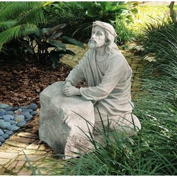 Design Toscano Jesus in the Garden of Gethsemane Sculpture - Bear witness to the Design Toscano Jesus in the Garden of Gethsemane Sculpture and feel the almighty power. Made from high-quality resin, this sculpture has an attractive faux-stone finish. Depicting Jesus in the garden of Gethsemane, this beautiful sculpture is suitable for outdoor use.About Design ToscanoDesign Toscano is the country's premier source for statues and other historical and antique replicas, which are available through the company's catalog and website. Design Toscano's founders, Michael and Marilyn Stopka, created Design Toscano in 1990. While on a trip to Paris, the Stopkas first saw the marvelous carvings of gargoyles and water spouts at the Notre Dame Cathedral. Inspired by the beauty and mystery of these pieces, they decided to introduce the world of medieval gargoyles to America in 1993. On a later trip to Albi, France, the Stopkas had the pleasure of being exposed to the world of Jacquard tapestries that they added quickly to the growing catalog. Since then, the company's product line has grown to include Egyptian, Medieval and other period pieces that are now among the current favorites of Design Toscano customers, along with an extensive collection of garden fountains, statuary, authentic canvas replicas of oil painting masterpieces, and other antique art reproductions. At Design Toscano, attention to detail is important. Travel directly to the source for all historical replicas ensures brilliant design.