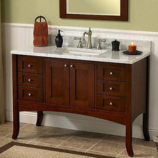 "Shaker 48"" Vanity - Dark Cherry - Shaker - Collections - Bath Collections"
