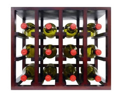 Vinotemp - Epicureanist 12-Bottle Stackable Wine Rack - The perfect combination of function and style. Easily place and expand your wine collection with these simple 12-Bottle stackable wood wine rack cubes. Designed to fit comfortably on a counter, these racks come complete with 4 pegs which can be used when stacking to make racks more secure. Strong hardwood allows you to be confident in the safety of your wine racks and unlike with many other wine rack cubes on the market there is no assembly required! Rack comfortably fits 12 standard 750 ml wine bottles and its medium brown finish looks great everywhere.