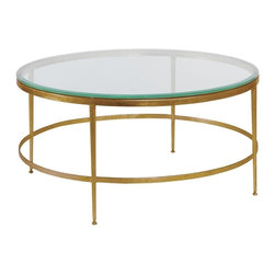 EuroLux Home - New Cocktail Table Modern Gold Consigned Antique - Product Details