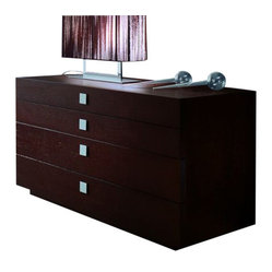 Rossetto - Win Dresser - Dress up your storage with this stately piece, well appointed with spacious drawers and sleek square metal handles. Designed in modern Italian style, it's sturdily built, fashionably finished and beautifully functional.