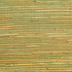 Walls Republic - Rush Green Grass Cloth Wallpaper, Double Roll - Rush wallpaper creates a warm, interesting backdrop for many different types of decor. Made from natural, sustainable materials, it is considered an environmentally friendly choice.