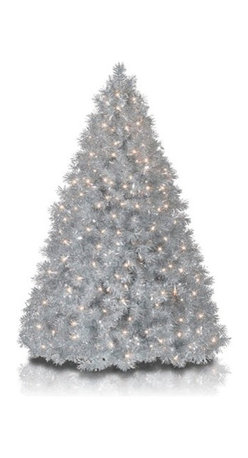 Silver Stardust Tinsel Christmas Tree - ADD STYLISH SPARKLE TO YOUR HOLIDAYS WITH OUR SILVER STARDUST TINSEL CHRISTMAS TREE