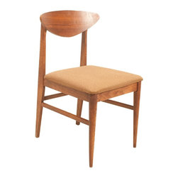 Bassett Furniture Company - Consigned Mid Century Modern Walnut Bassett Accent, Desk or Dining Chair - • Mid Century Modern